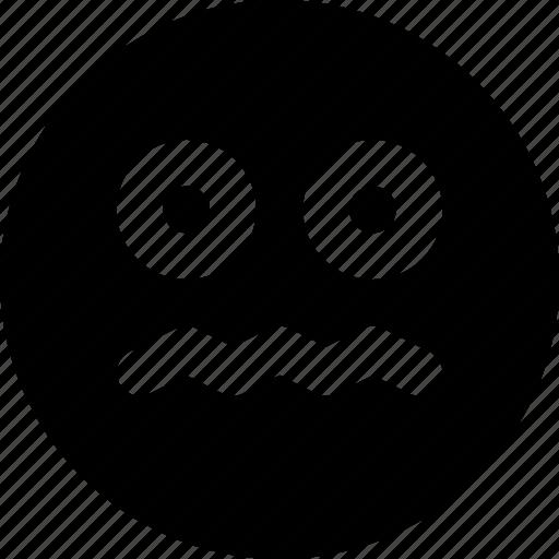 emoji, emoticons, face, scared icon