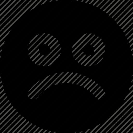 Emoji, emoticons, sad, face icon