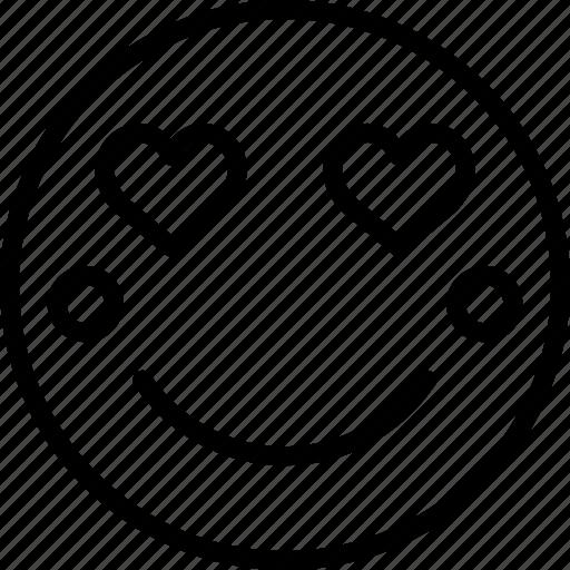 Emoji, emoticons, in, love, face icon