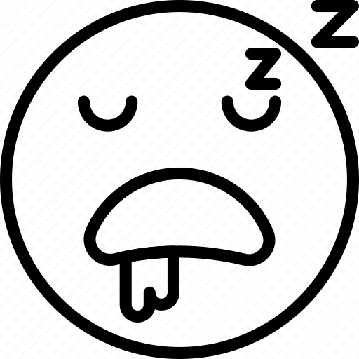 Emoji, emoticons, sleeping, face icon