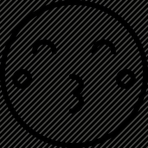Emoticons, emoji, kiss, face icon