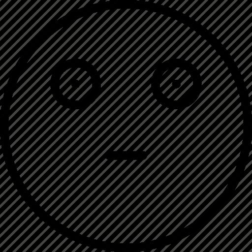 Sceptic, emoticons, emoji, face icon