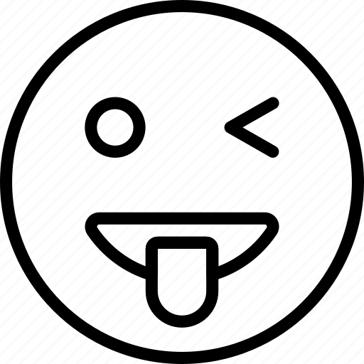 Emoji, emoticons, face, wink icon - Download on Iconfinder