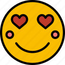 emoji, emoticons, face, in, love icon