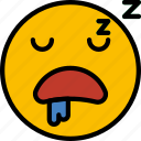 emoji, emoticons, face, sleeping icon