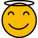 angel, emoji, emoticons, face icon