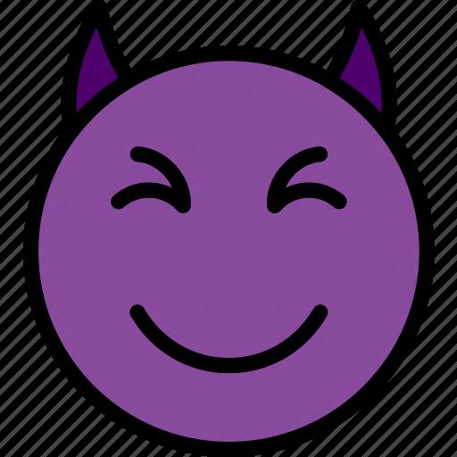 Emoji, emoticons, devil, face icon