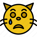 emoji, emoticons, face, sad icon