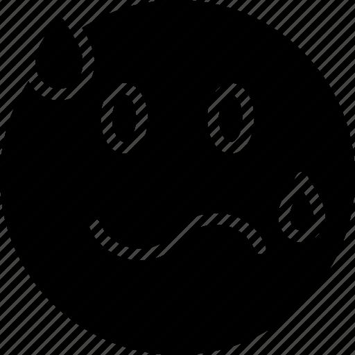 emoji, emoticons, face, intimidated icon