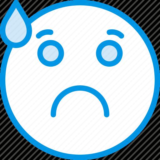 Emoji, emoticons, worried, face icon