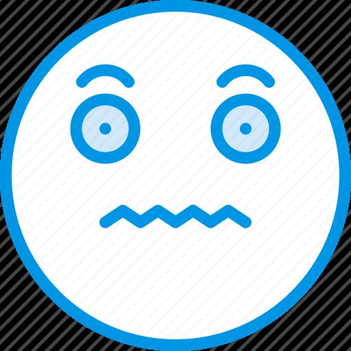 Emoticons, emoji, scared, face icon