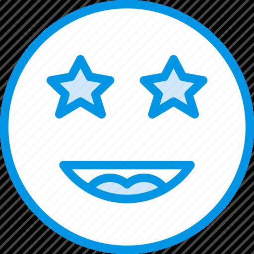 Emoji, emoticons, face, starstruck icon - Download on Iconfinder