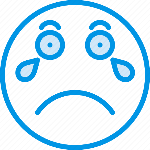Crying, emoji, emoticons, face icon - Download on Iconfinder