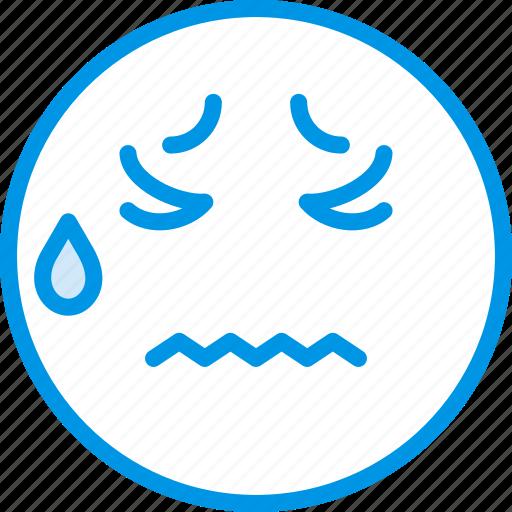 Emoticons, emoji, sick, face icon