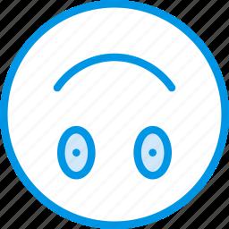 emoji, emoticons, face, rolling icon
