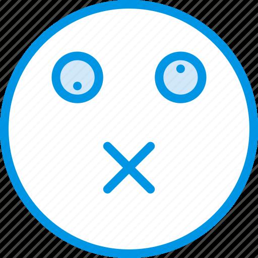 Emoticons, emoji, dead, face icon