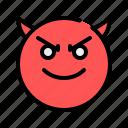 devil, ruthless, aggressive, emoji, emoticon, horror, spooky