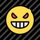 cruel, vicious, angry, aggressive, emoji, emoticon, spooky