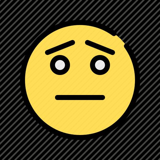 Hapless, pity, sad, yearning, regret, emoji, emoticon icon - Download on Iconfinder