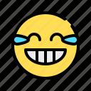 laugh, happy, cry, emoji, emoticon, smile, laughter