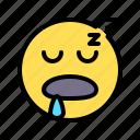 sleep, asleep, dream, drool, emoji, emoticon, sleepinesssleep