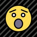 surprised, emoji, emoticon, emotional, amazement, gazing, screaming