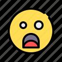 surprised, shocked, taken aback, emoji, emoticon, amazement, screaming