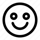 emoticon, expression, face, feeling, happy, smile, sticker