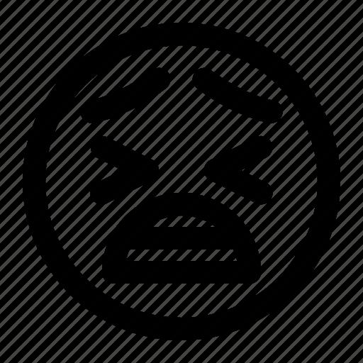 Angry, emoji, emoticon, face, feeling, sad, smiley icon - Download on Iconfinder