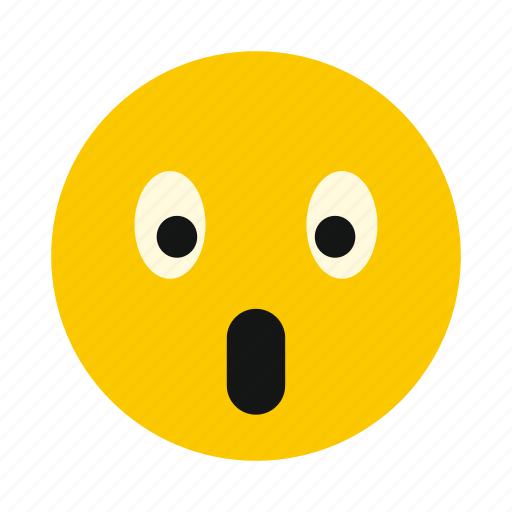 character, cute, emoticon, emotion, expression, smiley, surprised icon