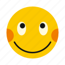 character, embarrassing, emoticon, emotion, happy, smile, smiley icon