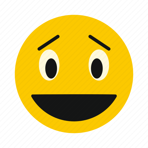 character, emoticon, face, happy, laughing, smile, smiley icon