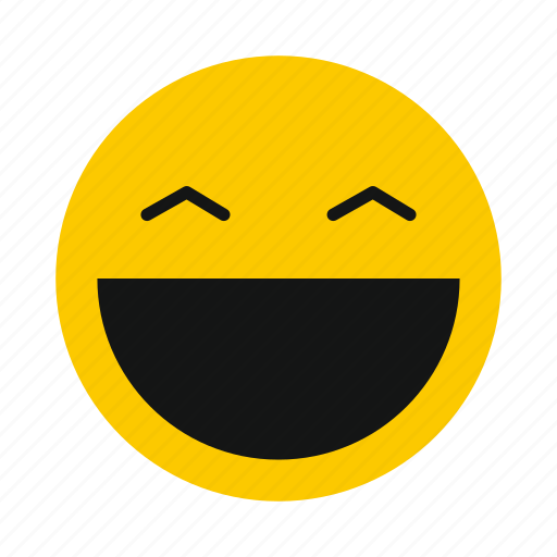 character, emoticon, emotion, happy, laughing, smile, smiley icon