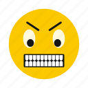 character, cute, emoticon, emotion, irritated, sadness, smiley icon