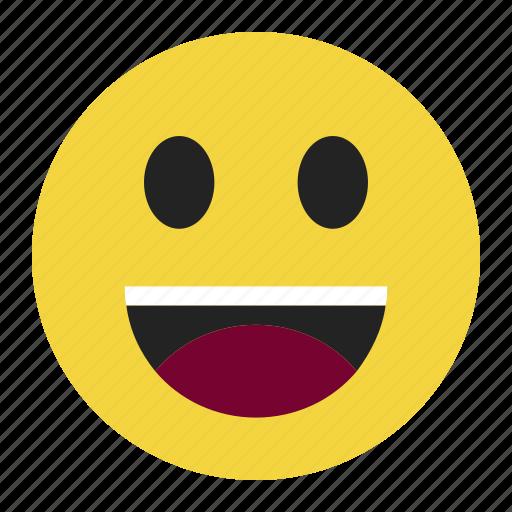 emoji, emoticon, expression, happy, laugh, smile icon