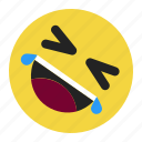 emoji, emoticon, expression, happy, joke, laugh, smile icon