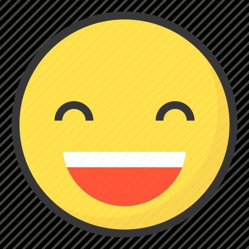 emoji, emoticon, expression, face, happy, smile icon