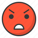 angry, annnoy, emoji, emoticon, expression, face