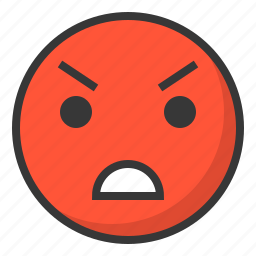 angry, annnoy, emoji, emoticon, expression, face icon