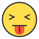 blah, disgust, emoji, emoticon, expression, face icon