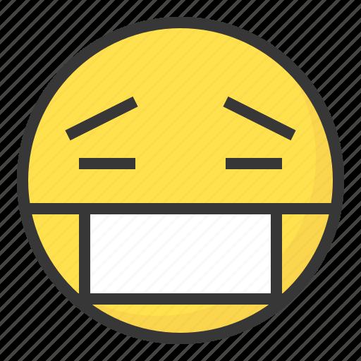 emoji, emoticon, expression, face, ill, sick icon