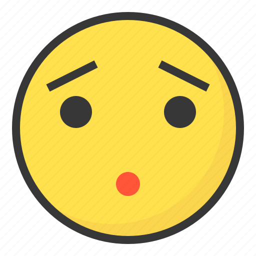 emoji, emoticon, expression, face, frustrated, worry icon
