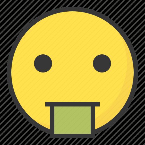 emoji, emoticon, expression, face, puke, vomit icon