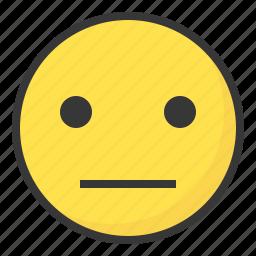 emoji, emoticon, expression, face, meh icon