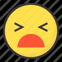emoji, emoticon, expression, face, stupid