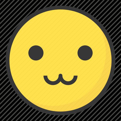 cute, emoji, emoticon, expression, face icon