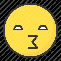 emoji, emoticon, expression, face, gossip, naughty icon
