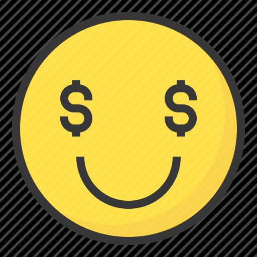Emoji, emoticon, expression, face, greedy icon - Download on Iconfinder