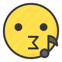 emoji, emoticon, expression, face, sing icon