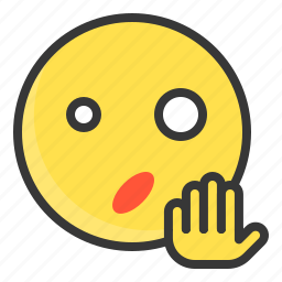 emoji, emoticon, expression, face, surpirsed icon